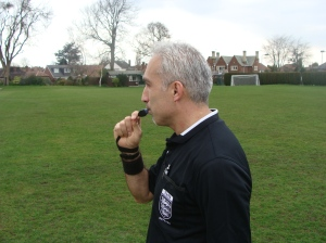 Officiating at Wollaton Sports Ground Nottingham