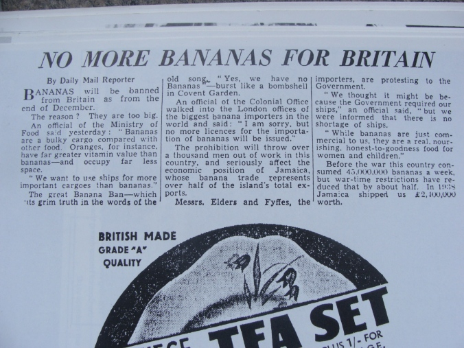 Wartime Banana shortage