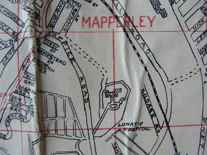 Map Mapperley 1940s