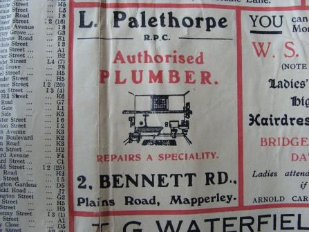 Mapperley Palethorpe Plumber 1940s
